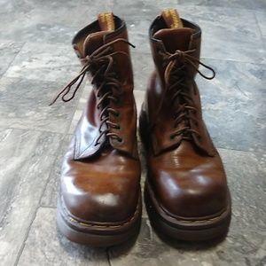 Dr. Martens Vintage Brown Leather Work Boots 11